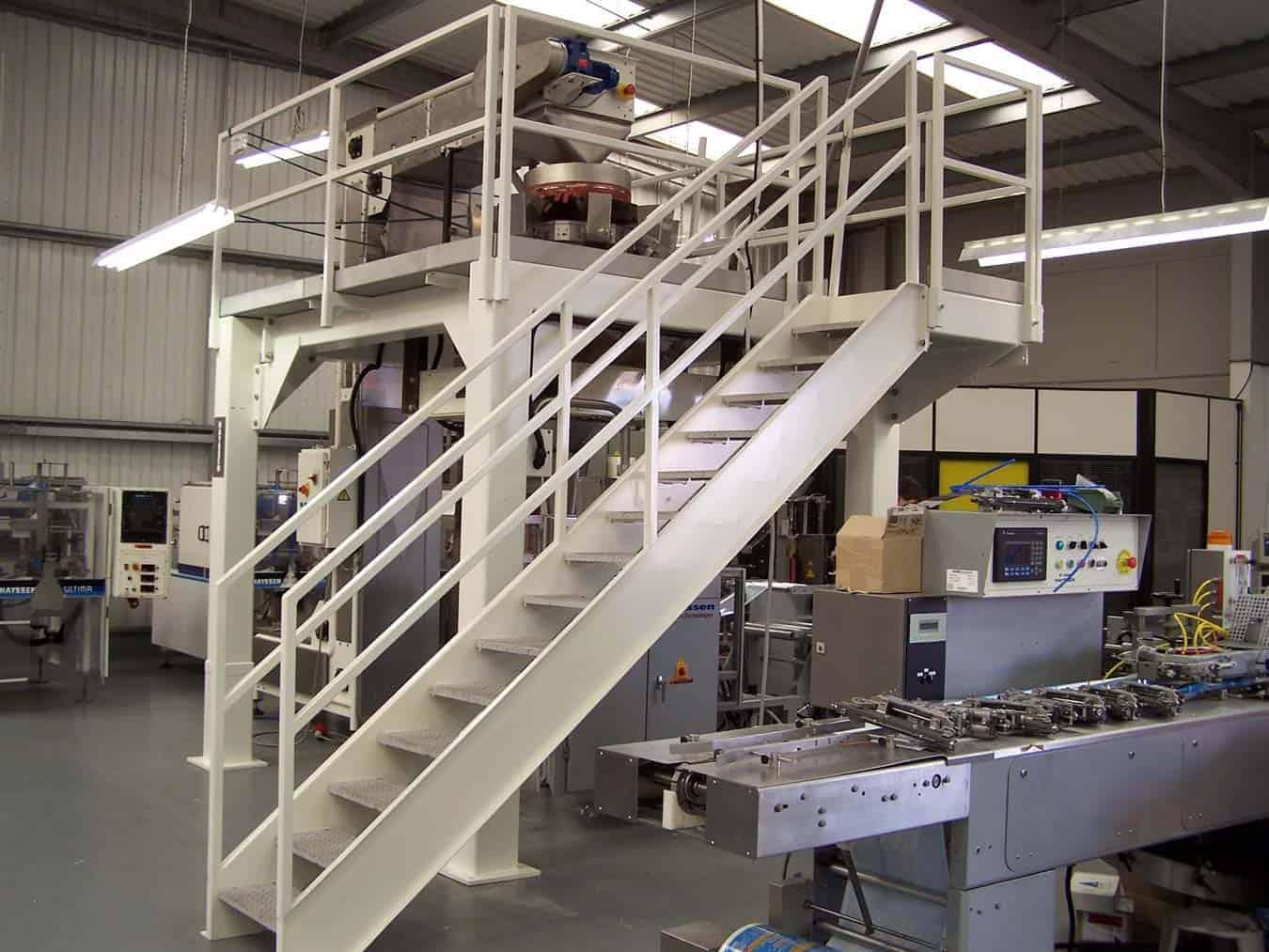 En 1090 Structural Steel Mezzanine Floor Food Conveyor Manufacturers Platform & Mezzanine Wrightfield