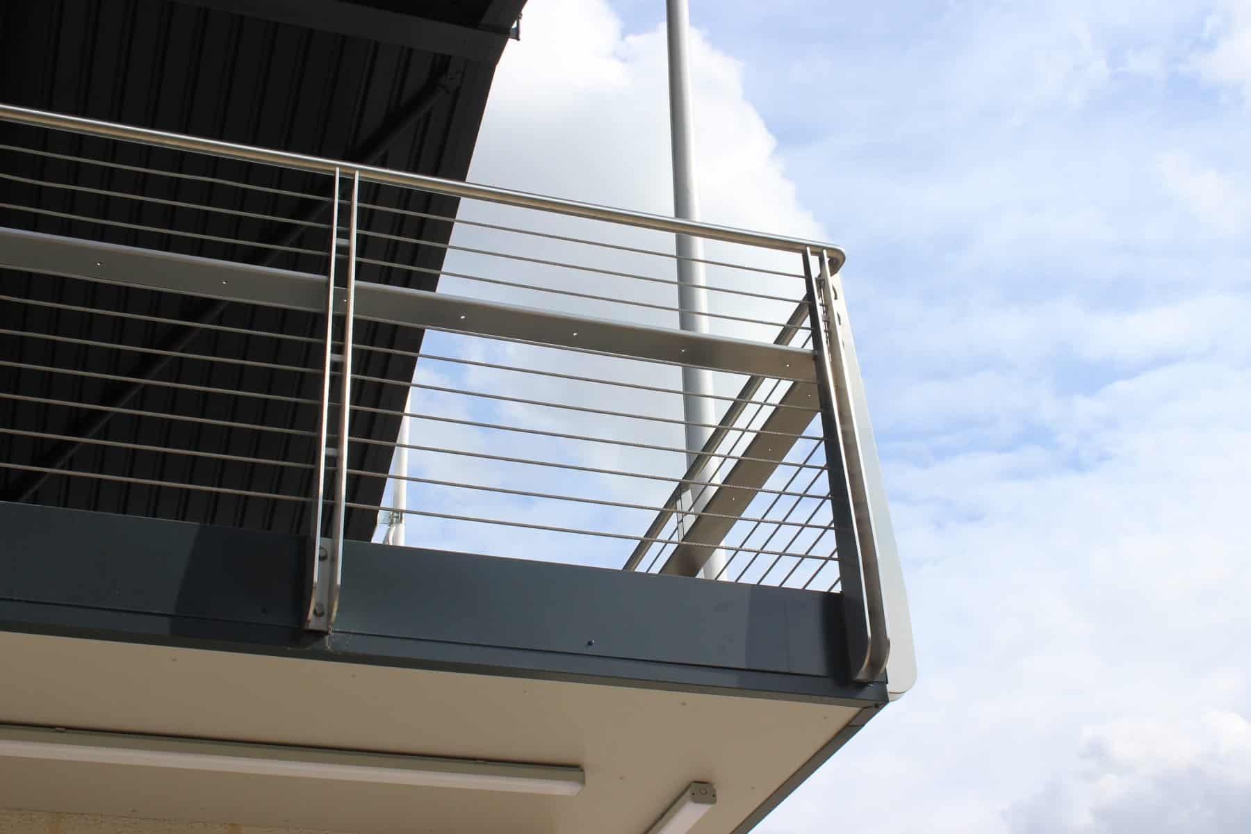 Balcony Railings City Of Cambridge Rowing Club Balcony Looking To Sky Wrightfield Ltd