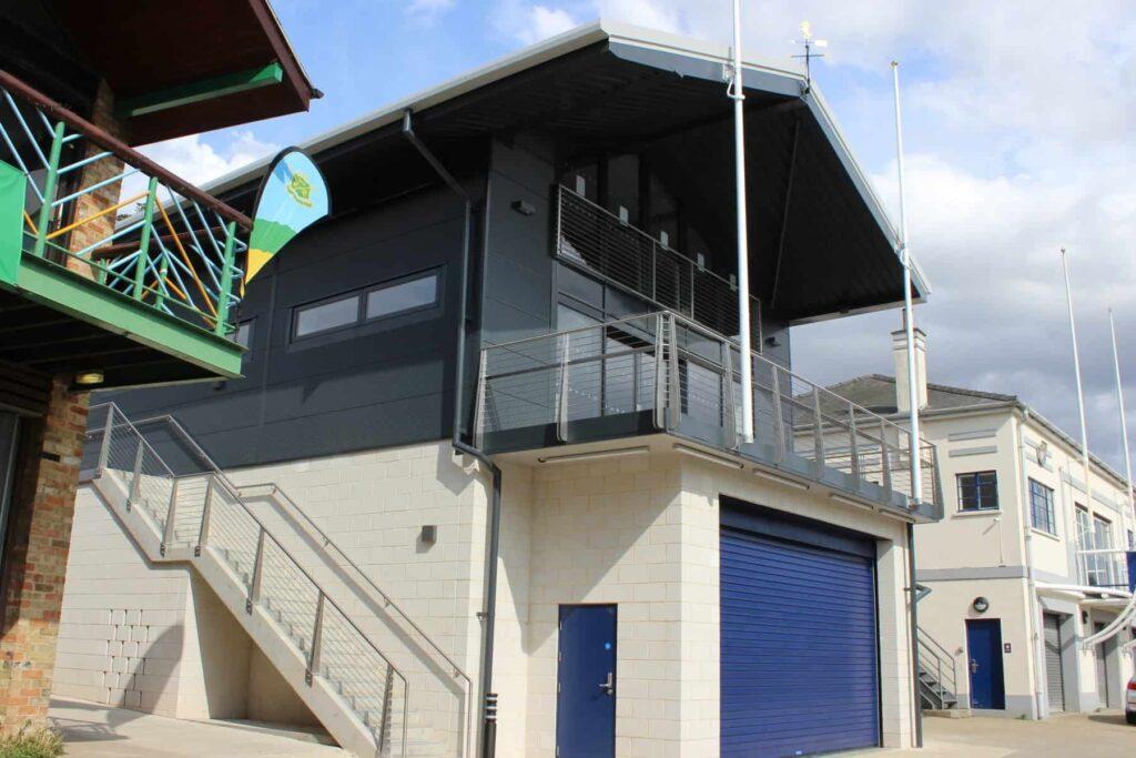 juliette balcony railings City of Cambridge Rowing Club main balcony and Juliet balcony Wrightfield Ltd 4